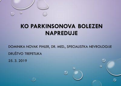 Ko Parkinsonova bolezen napreduje