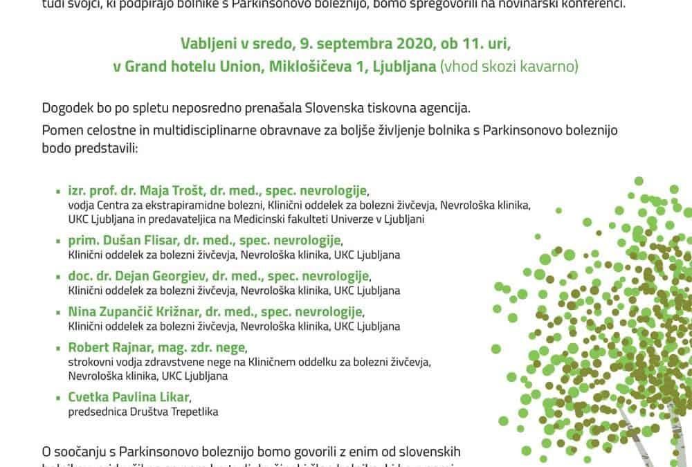 Novinarska konferenca; Slovenski bolniki s PB potrebujejo boljšo obravnavo